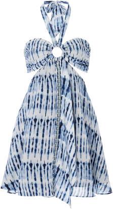Jonathan Simkhai Hawaiian Printed Voile Halter Mini Dress Size: XS
