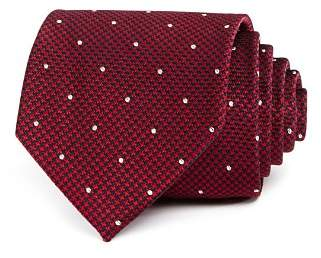 Bloomingdale's The Men's Store at Micro-Houndstooth & Dot Silk Classic Tie - 100% Exclusive