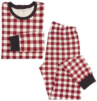 Burt's Bees Buffalo Check Organic Adult Womens Holiday Matching Pajamas