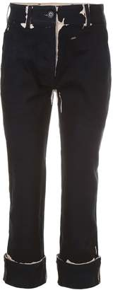 Prada Linea Rossa Overprint Denim Trousers