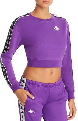 Kappa Logo-Trim Cropped Sweatshirt
