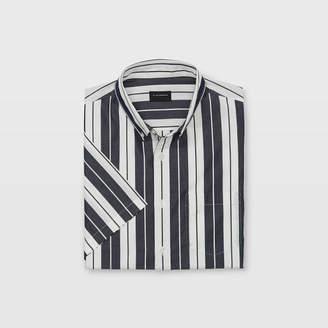 Club Monaco Slim Short-Sleeve Line Shirt
