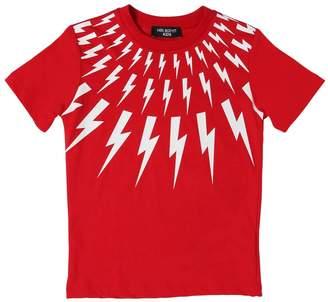 Neil Barrett BOLTS コットンジャージーTシャツ