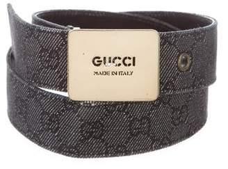 Gucci GG Denim Belt