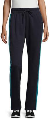 SJB ACTIVE St. John's Bay Active Velour Trim Pant (Straight Leg)