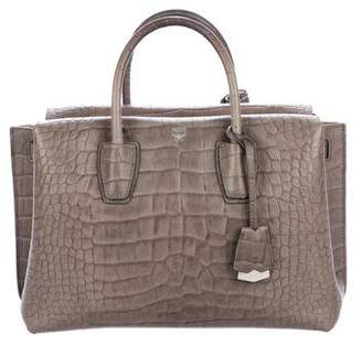 MCM Embossed Handle Bag