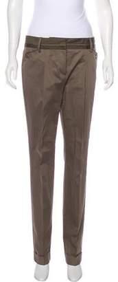 Rena Lange Mid-Rise Straight-Leg Pants