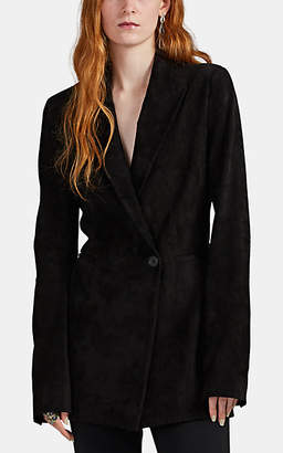 The Row Women's Ciel Bonded Suede One-Button Blazer - Black