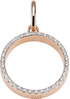 Monica Vinader Naida 18ct rose-gold vermeil and diamond pendant