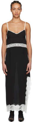 Gucci Black Lace Logo Slip Dress
