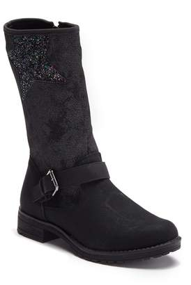 Good Choice New York Kayla Star Detail Faux Suede Mid Bootie