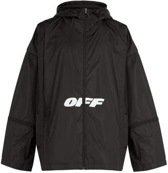 Off-White Wing Off logo-print windbreaker jacket