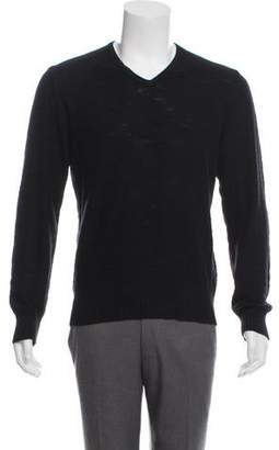 John Varvatos Linen-Blend V-Neck Sweater