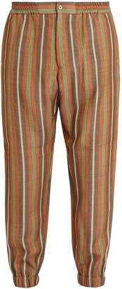 Etro Striped elasticated-waist trousers