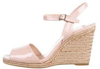 Prada Patent Leather Espadrille Sandals