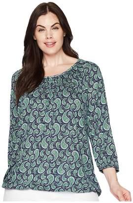MICHAEL Michael Kors Size Pretty Paisley Peasant Top Women's Short Sleeve Knit