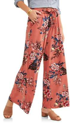 Laundry by Shelli Segal French Laundry Women's Tie Front Printed Palazzo Pant