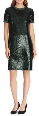 Lauren Ralph Lauren Sequined T-Shirt Dress