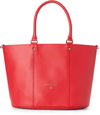 Patrizia Pepe Matte Red Leather Satchel