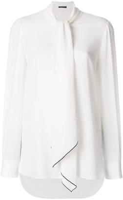 Alexander McQueen tied neck blouse