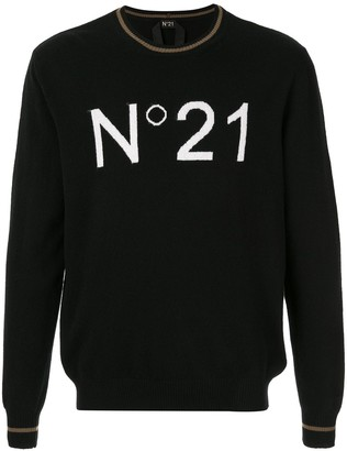 No.21 logo relaxed jumper