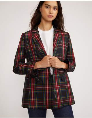 Cynthia Rowley Ridley Plaid Wool Blazer