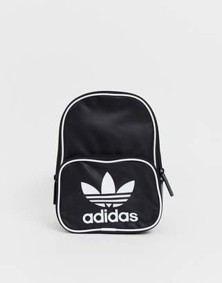 adidas trefoil mini backpack in black