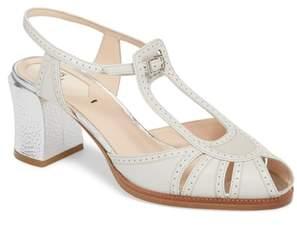 Fendi Chameleon Block Heel Sandal