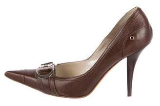 Christian Dior Leather Pointed-Toe Pumps