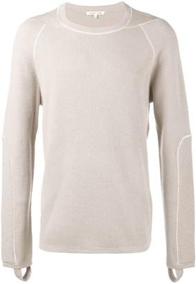 Helmut Lang Combo Waffle Knitted Jumper