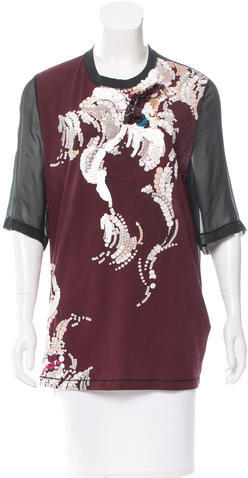 3.1 Phillip Lim 3.1 Phillip Lim Sequined Abstract Top