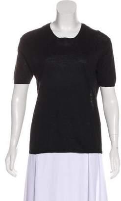 Calvin Klein Collection Short Sleeve Knitwear Top