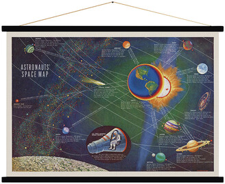 Blue Shaker - Astronauts' Space Map Print