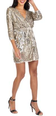 TFNC Venezia Sequin Surplice Dress