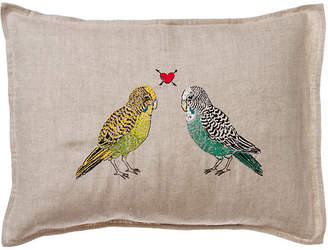 Coral & Tusk Parakeet Love Pillow