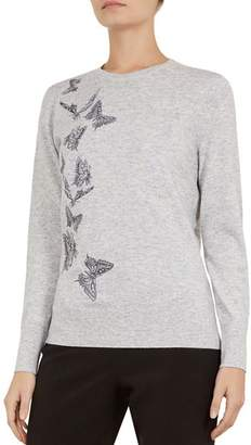 Ted Baker Redinn Butterfly-Embroidered Sweater