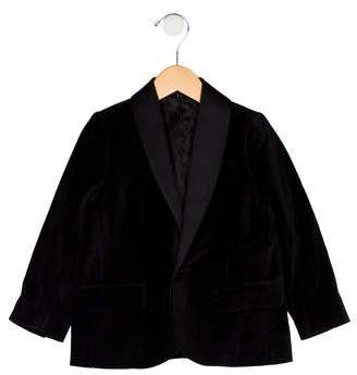 Little Marc Jacobs Boys' Shawl-Lapel Velvet Blazer