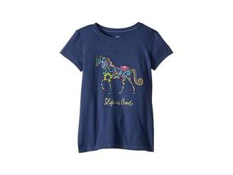 Life is Good Swirly Horse Crusher T-Shirt (Little Kids/Big Kids)