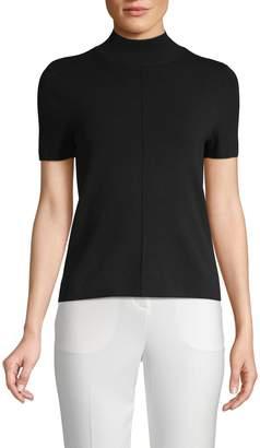 Saks Fifth Avenue Mockneck Short Sleeve Sweater