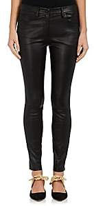 The Row Women's Maddly Leather Slim Jeans - Black