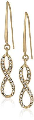 lonna & lilly Women's Gold-Tone and Infinity Threader Drop Earrings
