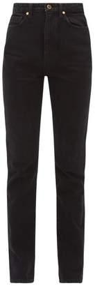 KHAITE Daria Slim Fit Jeans - Womens - Dark Denim