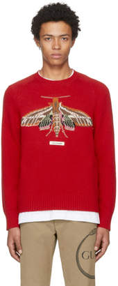 Gucci Red Garden Anger Forest Moth Sweater
