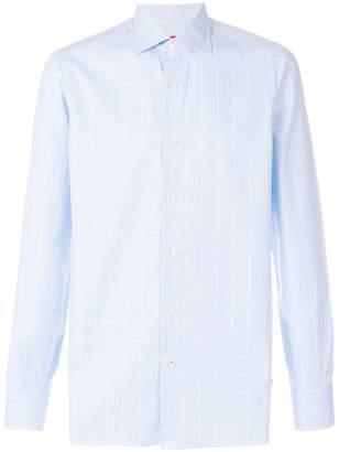 Isaia tonal check shirt