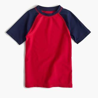 J.Crew Boys' short-sleeve colorblock rash guard