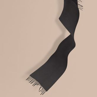 Burberry The Mini Classic Cashmere Scarf $275 thestylecure.com