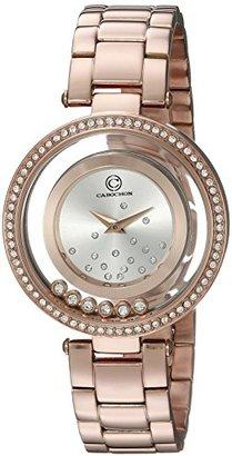 Cabochon レディースJoya ' QuartzステンレススチールCasual Watch , Color :ローズgold-toned (モデル: 80418-rg-02s )