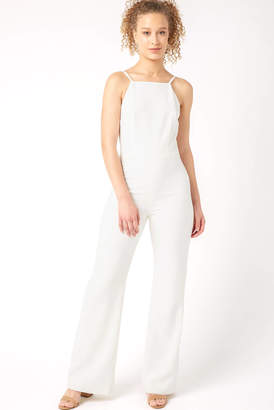0695457ca339 French Connection White Whisper High Neck Jumpsuit