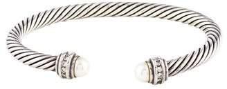 David Yurman Pearl & Diamond Cable Classics Bracelet