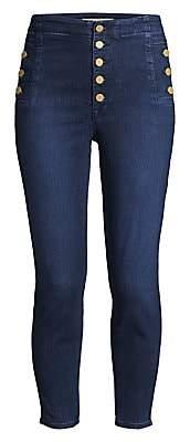 J Brand Women's Natasha Sky High Crop Skinny Jeans